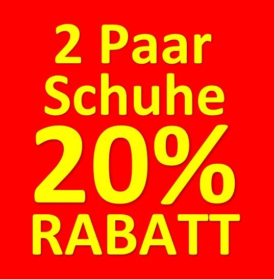 2 Paar Schuhe 20 %