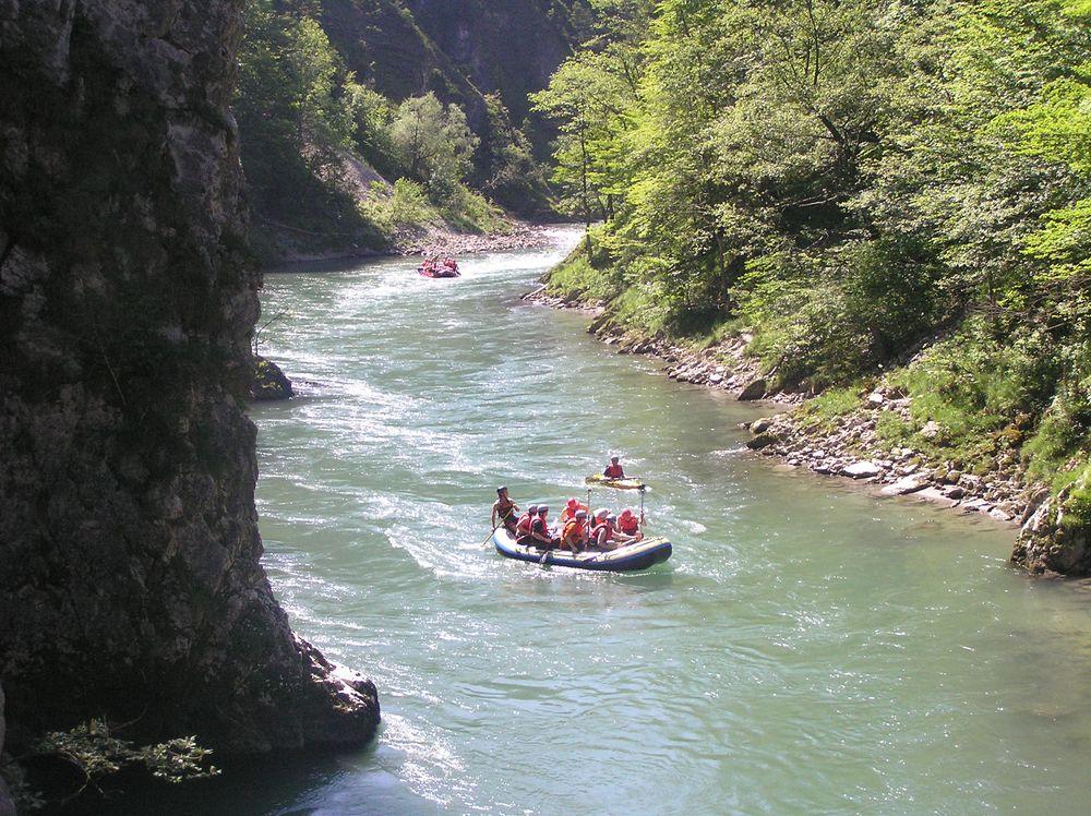 Rafting in der Entenlochklamm Kössen