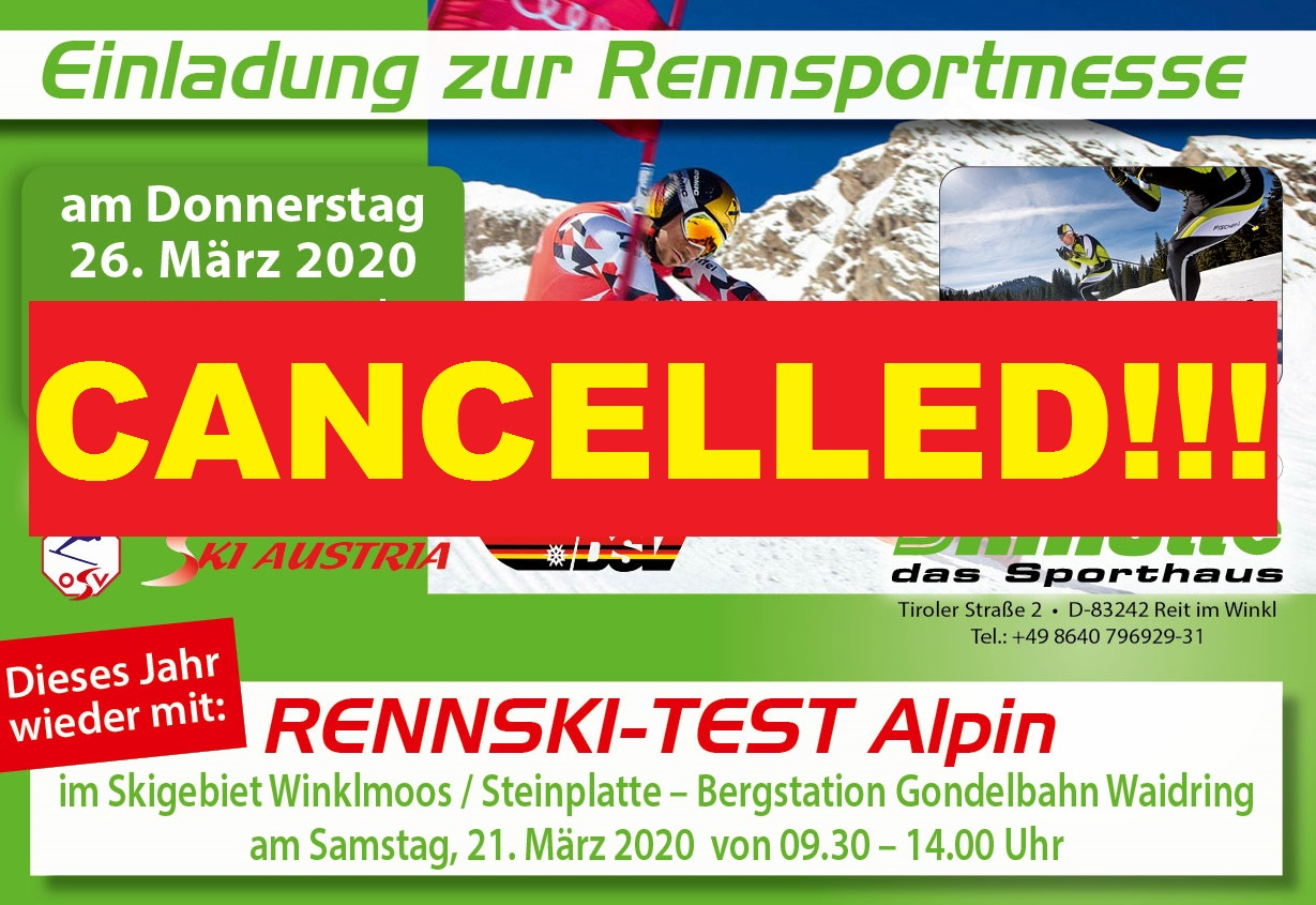 Rennsportmesse cancelled!