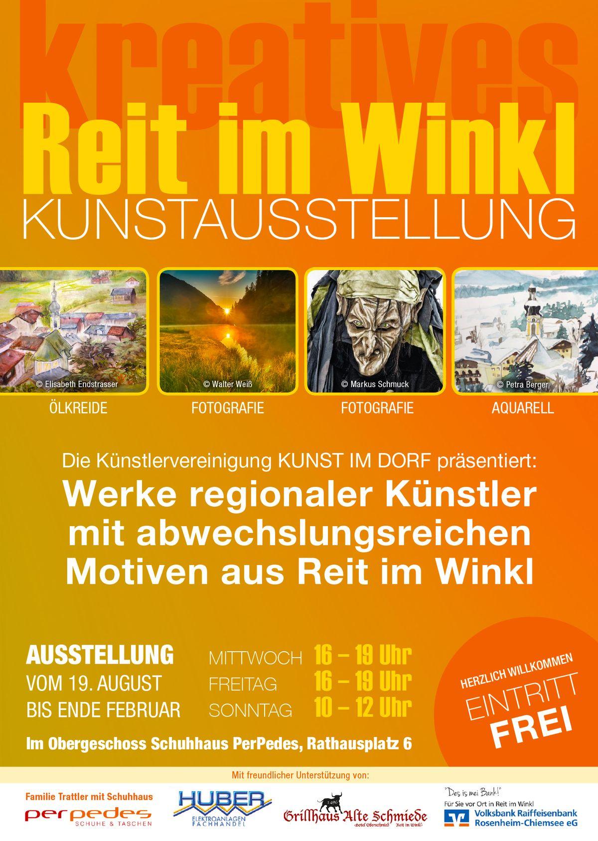 Plakat kreatives Reit im Winkl