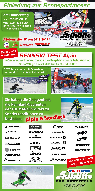 Rennsportmesse + Rennskitest 2018