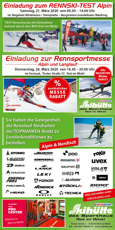 Rennski-Test & Rennsport-Messe 2020