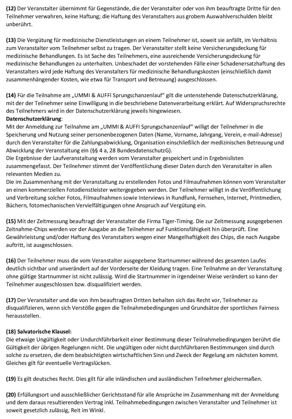 UMMI & AUFFI Teilnahmebedingungen 2